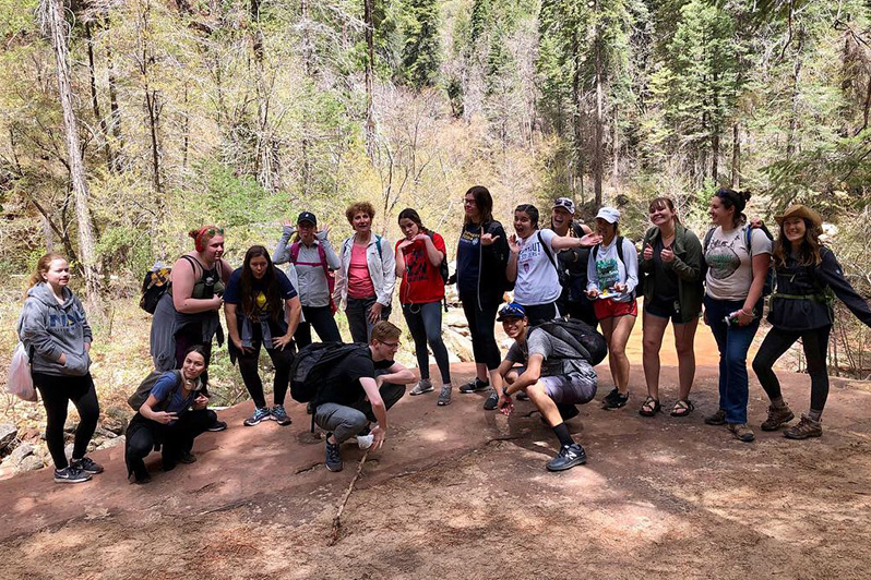 West Fork Educational Hike with NAU Students