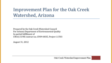 Oak Creek Watershed Improvement Plan (OCWIP)