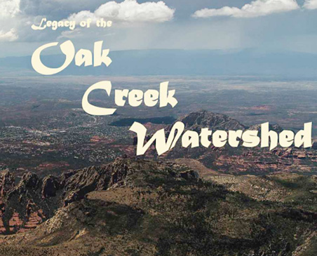 Cover of the Oak Creek Legacy book showing the watershed